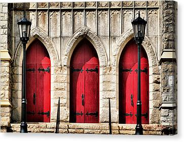 Trinity Lutheran Entrance Canvas Print
