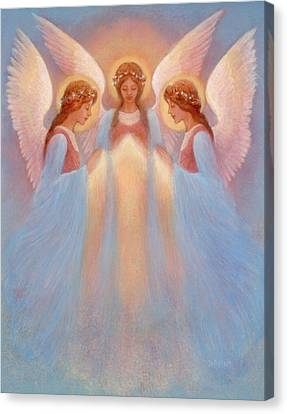Trinity Of Angels Canvas Print by Jack Shalatain