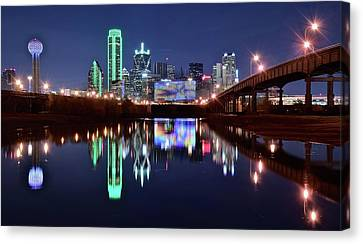 Trinity River And Pond Canvas Print by Frozen in Time Fine Art Photography