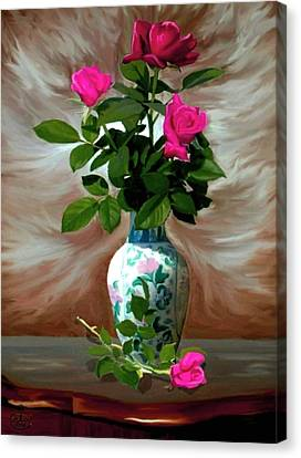 Trinity Roses Canvas Print by Ron Chambers