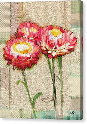 Canvas Print featuring the painting Trio by Carrie Joy Byrnes