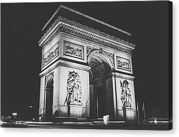 Triomphe-bw Canvas Print by Saint Cloud