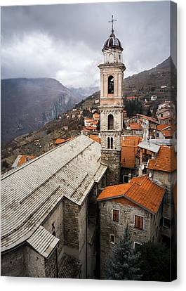 Triora Church Canvas Print by Dave Bowman