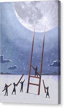Trip To The Moon Canvas Print by Steve Dininno