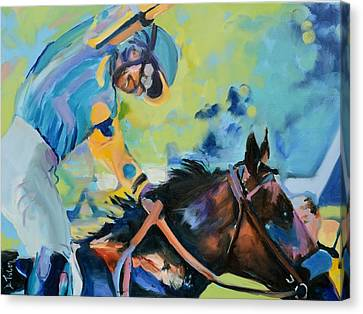 Triple Crown Champion American Pharoah Canvas Print by Donna Tuten