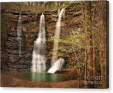 Triple Falls Landscape Canvas Print by Tamyra Ayles
