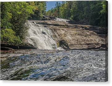 Canvas Print featuring the photograph Triple Falls Second Tier by Steven Richardson