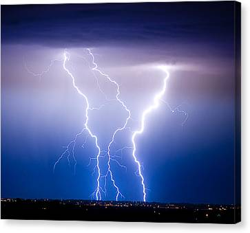 Triple Lightning Canvas Print by James BO  Insogna
