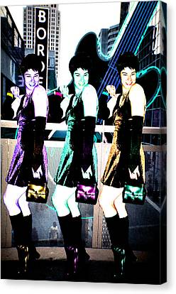 Canvas Print featuring the photograph Triple Pixie by Lola Connelly