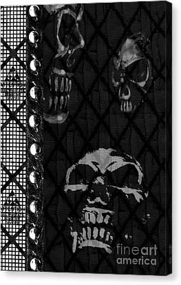 Triple Skulls Canvas Print by Roseanne Jones