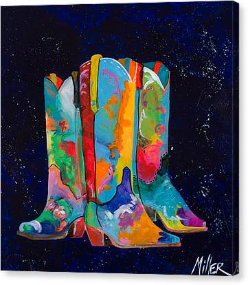 Contemporary Cowgirl Canvas Print - Triple Threat by Tracy Miller
