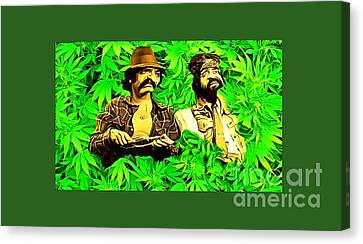 Trippin With Cheech And Chong Canvas Print by Pd