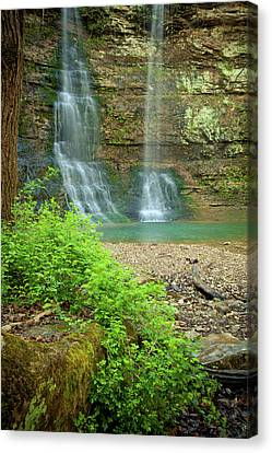 Tripple Falls In Springtime Canvas Print