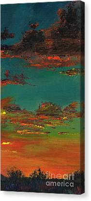 Desert Canvas Print - Triptych 3 by Frances Marino