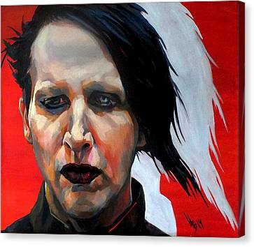 Triptych Marilyn Manson. Right Part. Canvas Print