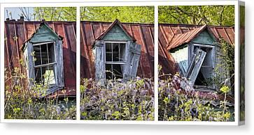 Triptych Windows Canvas Print