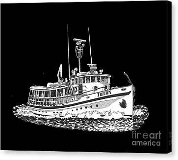 88 Foot Fantail Yacht Triton Canvas Print by Jack Pumphrey
