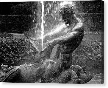 Triton Fountain Canvas Print