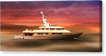 Canvas Print featuring the photograph Triton Yacht by Aaron Berg
