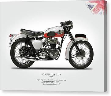 Triumph Bonneville 1959 Canvas Print by Mark Rogan