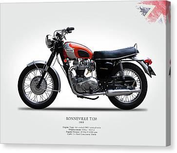 Triumph Bonneville 1969 Canvas Print by Mark Rogan