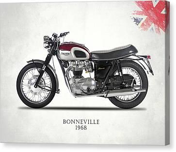 Triumph Bonneville T120 1968 Canvas Print by Mark Rogan