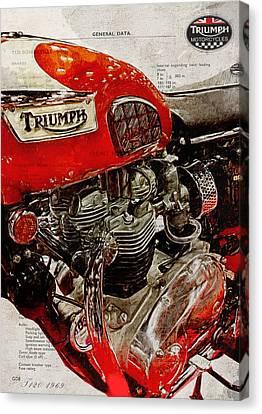 Triumph Bonneville T120 1969 Canvas Print