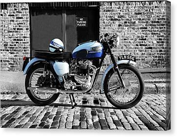 Triumph Bonneville T120 Canvas Print by Mark Rogan