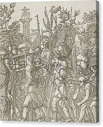 Triumph Of Caesar Canvas Print by Andrea Andreani