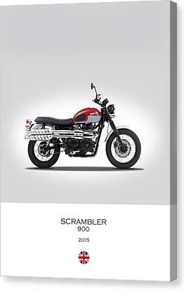 Triumph Scrambler 2015 Canvas Print