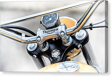 Triumph Scrambler Abstract Canvas Print by Tim Gainey