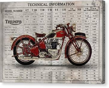 Triumph Speed Twin 1939 Canvas Print