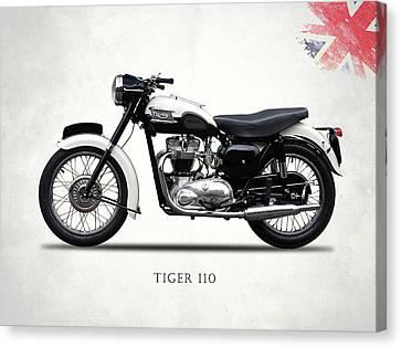 Triumph Tiger 110 1959 Canvas Print by Mark Rogan