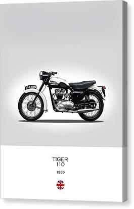 Triumph Tiger 1959 Canvas Print by Mark Rogan