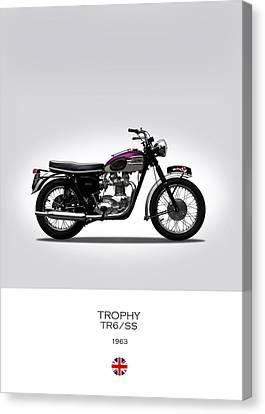 Triumph Trophy 1963 Canvas Print by Mark Rogan