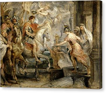 Triumphant Entry Of Constantine Into Rome Canvas Print