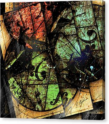 Trois Cercles Canvas Print by Gary Bodnar