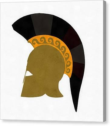 Trojan Helmet Canvas Print by Esoterica Art Agency