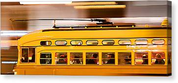 Trolley 1052 On The Move Canvas Print