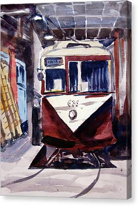 Trolley Maintenance Canvas Print