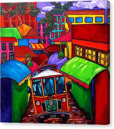 Trolley Canvas Print by Patti Schermerhorn