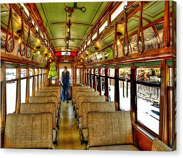 Canvas Print featuring the photograph  Trolley by Raymond Earley