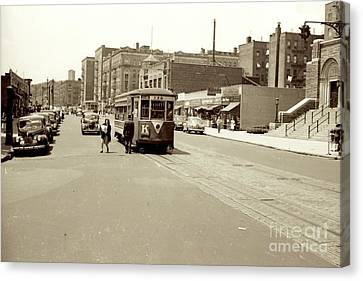 Canvas Print featuring the photograph Trolley Time by Cole Thompson