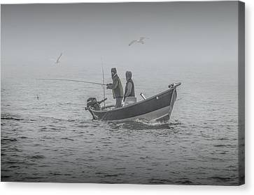 Trolling For Salmon In The Fog Canvas Print by Randall Nyhof