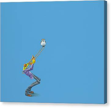Red Eye Canvas Print - Trombone by Jasper Oostland