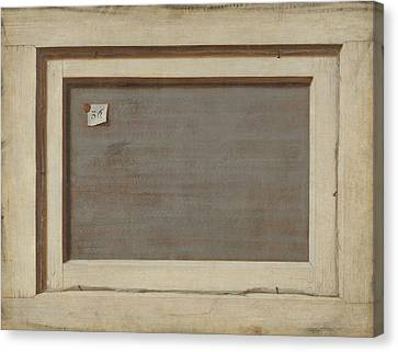 Reverse Art Canvas Print - Trompe L'oeil. The Reverse Of A Framed Painting by Cornelis Norbertus Gysbrechts