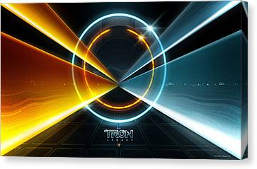Tron Legacy Movie Canvas Print by F S