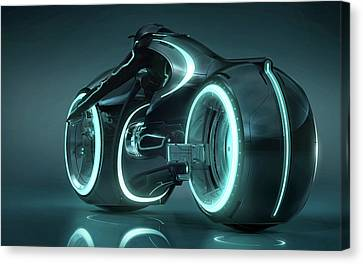 Tron Light Cycle Canvas Print by F S