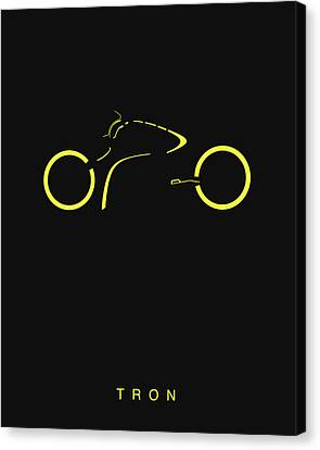 Tron Canvas Print - Tron Minimalist Movie Poster by Finlay McNevin