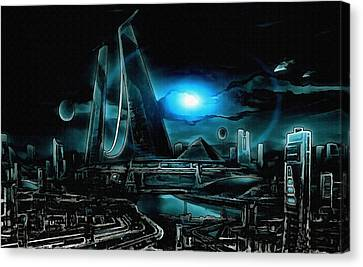 Tron Revisited Canvas Print